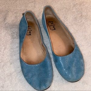 French Sole fs/ny Suede Wedge Slip On